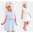 D1451 Summer Cotton Dress, Pastel Colors