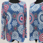 K2763 Beeindruckende Bluse Large Size L-4 XL, Must