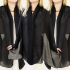FL358 FOULARD ELEGANT, couvre-lit, tenue, BLACK