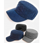 C1947 Mens Cap, Hat, Quilted Fabric, Insulated