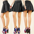 C11148 MINI SKIRT, MATTE ECOLOGICAL LEATHER