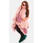 EM10 Fur Jacket, Lose Vest, Poncho, Pink