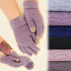 C17452 Soft, woolen gloves, winter colors