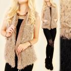 C17271 Beautiful Vest, Double Fur,Very Warm & Soft