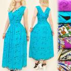 FL476 Lovely Dress, V Neck, Full of Roses