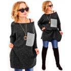 PL1 Oversize sweater, Melange, Pocket