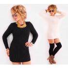 A844 pulóver ruha, meleg tunika, női megjelenés