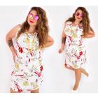 C17516 Női felsőruházat, fehér és liliomok