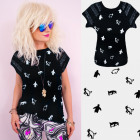 4658 Cotton Shirt, Top, Blouse, Penguin, Lace