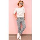 BI771 Pantalon de Charme, Style Décontracté, Treil