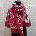 A1828 Large Scarf Plaid, Cashmere Knitwear, Flower