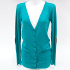 Cashmere Women Cardigan with Patches S-XL, 4876