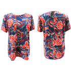 Women Blouse Shirt, Plus Size, Roses, L-4XL, 5407