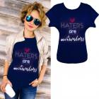 K572 Cotton T-Shirt , Top, Heart, Navy