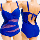 4616 Swimsuit, Plus Size, Bandage Line, up to 56