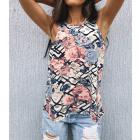 Womens Blouse, Summer Top, Flowers M-4XL, 6230