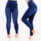 4574 Lovely Leggings Jeans avec chatons, taille pl