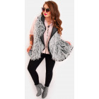 EM40 Fur Vest Poncho Winter Jacket, Gray
