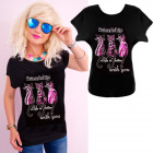 K546 Cotton T-Shirt , Top, Cats Friendship Black