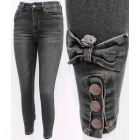 B16766 Charming Women Jeans, Bows & Gray