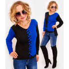R65 Women Sweater, Lace-up, Asymmetrical