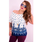 C11511 Summer Plus Size Blouse, Elegant Pattern