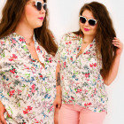 H1301 Lovely, Women Blouse, Plus Size, Summer