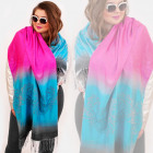 O06 Spring Shawl, Scarf, Rainbow Colors, Ombre