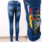 B16834 Beautiful Jeans Pants, Charming Embroidery