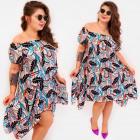 C17710 Women Dress, Asymmetric, Tropic