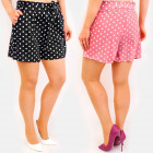 C17608 Summer Shorts, Tied Strap, Polka Dots