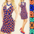 BB111 ENVELOPE DRESS WITH CLAMB, EFFECTLY PATTERN