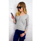 D2676 Attractive Top, Lace Sleeves, Casual Chic