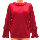 Women Sweater, UNI, Glossy Look & Frills, D14124