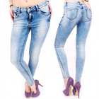 B16619 Sexy Women Jeans, Skinny, Bright Blue