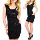 C24204 Phenomenal, Black Dress, Mega Sequins