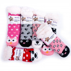 Kids Thick Socks with Fur, 27-35, ABS, 4985