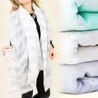 FL293 ESSENTIAL SCARF, bedspread, pastel colors