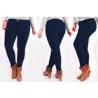 B16786 Jeans femme chic avec trous, Taille Plus Ma