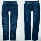 Warm Leggings Girls Jeans, 4-12 years, A19259