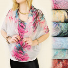 FL388 TRENDY CHIMNEY, shawl, scarf, fancy FLOWER