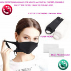 Protective masks, 2 pieces and filter, Black &