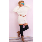 A8104 Women Sweater, Dress, Plus Size, with Holes