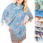 B10A50 Charming scarf, headscarf, pattern in owls