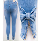 B16813 Women's Jeans, Sliders And Bows, Blue