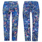 Women Jeans Pants, XS - XL, Blue Print, B16864