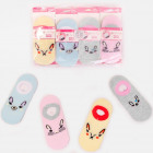 4575 Cotton Kids Socks, Feets, Rabbits Pattern