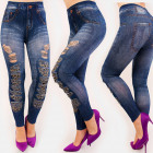 4707 Leggings Jeans, schöne Löcher, hohe Taille