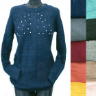 Classic Loose Sweater For Women, Pearls, R126