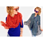 A1237 Merry Scarf, Shawl, Leopard Full Of Colors